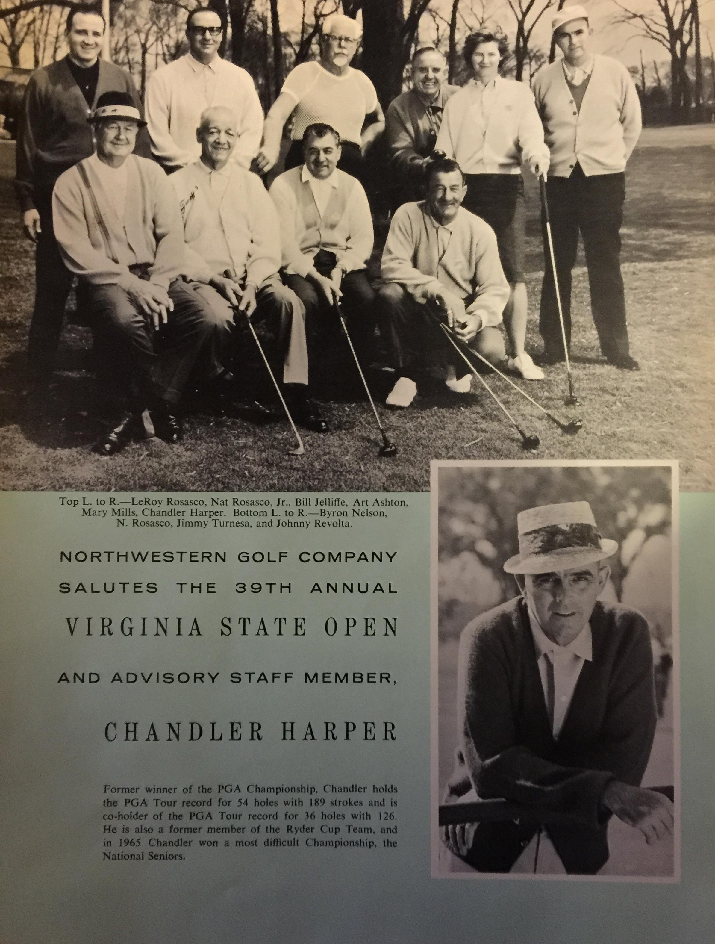 Chandler Harper – Virginia Golf Hall of Fame